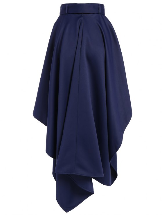 Hanky Hem Maxi Skirt - DEEP BLUE 2XL Mobile