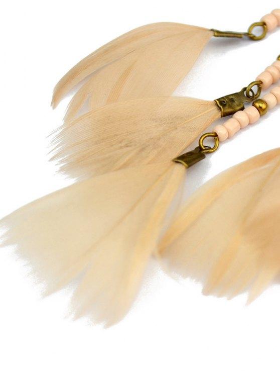 Beads Feather Bohemian Earrings -   Mobile