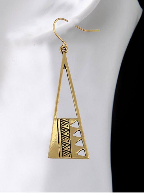 Vintage Triangle Drop Earrings - GOLDEN  Mobile