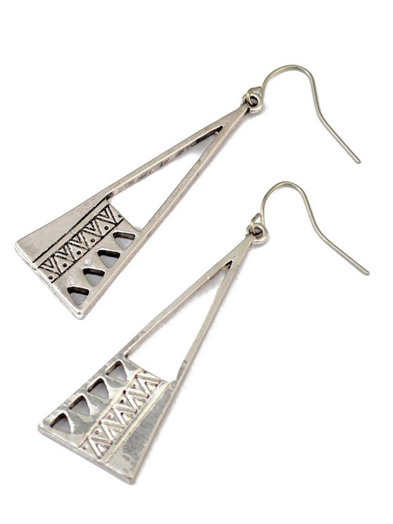 Vintage Triangle Drop Earrings -   Mobile