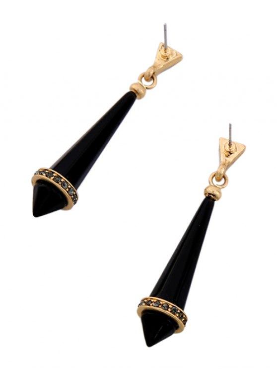 Rhinestone Geometry Resin Drop Earrings -   Mobile