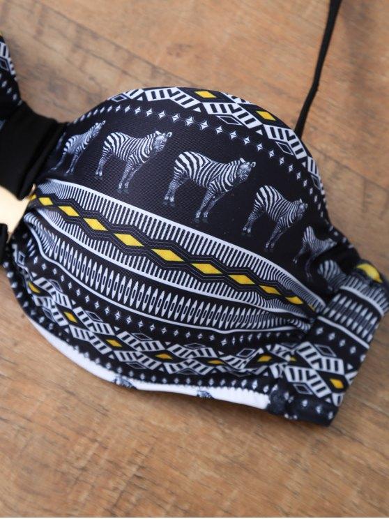 Aztec Print Bandeau Bikini - COLORMIX L Mobile