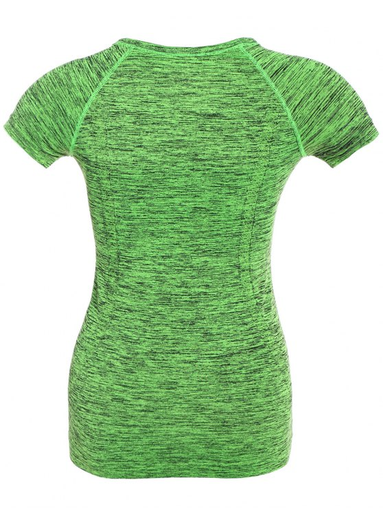 Space Dye Short Sleeve Sports Tee - NEON GREEN L Mobile