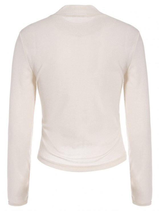 See-Through Cropped T-Shirt - APRICOT M Mobile