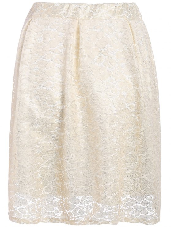 Floral Lace Skirt - PALOMINO 2XL Mobile