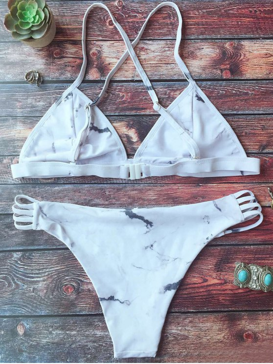 Cutout Double Side Bikini Set - WHITE M Mobile