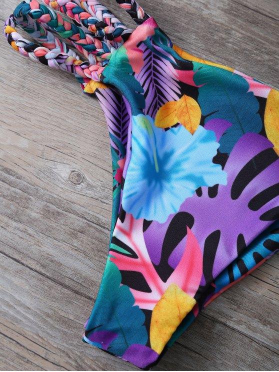Cutout Floral Bikini Set - COLORMIX L Mobile