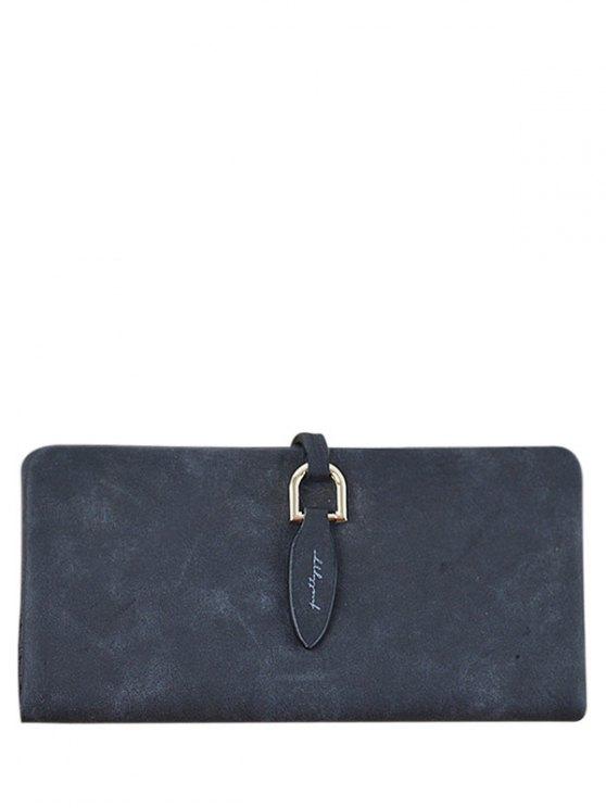 shop Metal Embellished Bi Fold Clutch Wallet - BLACK