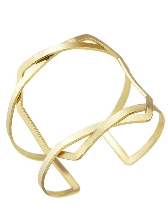 Geometric Vintage Cuff Bracelet - GOLDEN  Mobile