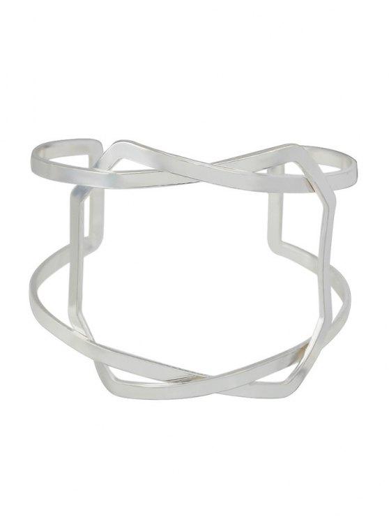 Geometric Vintage Cuff Bracelet -   Mobile