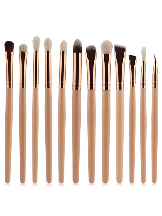 affordable Goat Hair Eye Makeup Brushes Set - COMPLEXION