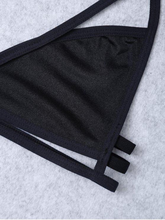 Unlined Cut Out Bra - BLACK M Mobile