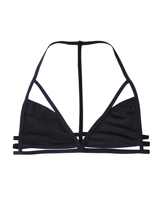 Unlined Cut Out Bra - BLACK S Mobile