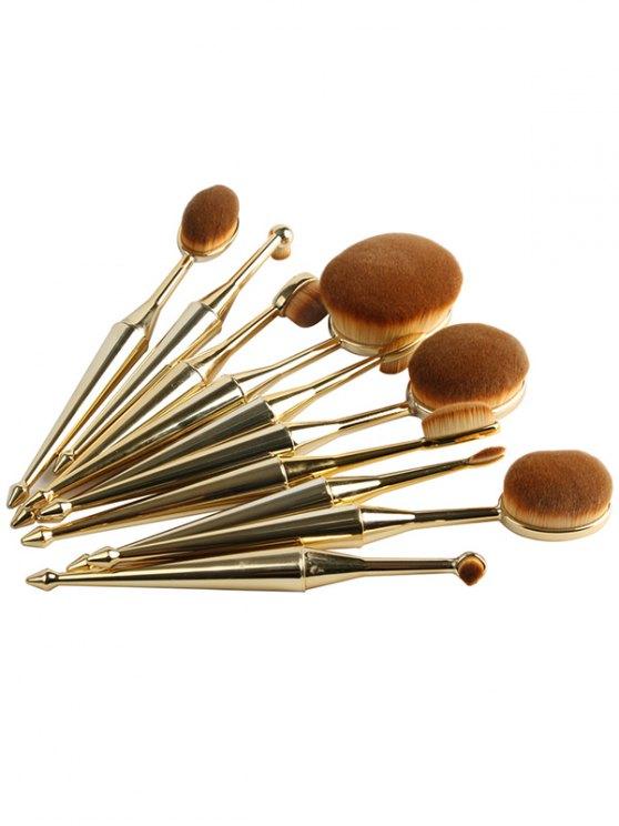 Mermaid Shape Makeup Brushes Set - GOLDEN  Mobile