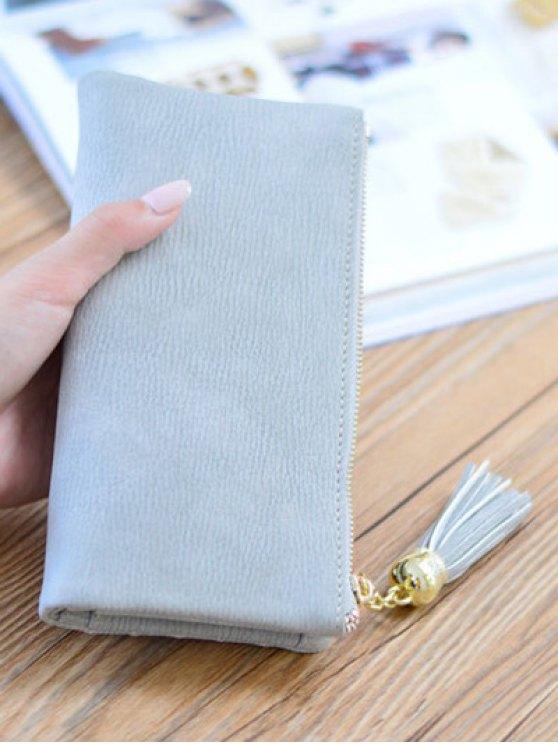 Stitching Tassel Clutch Wallet -   Mobile