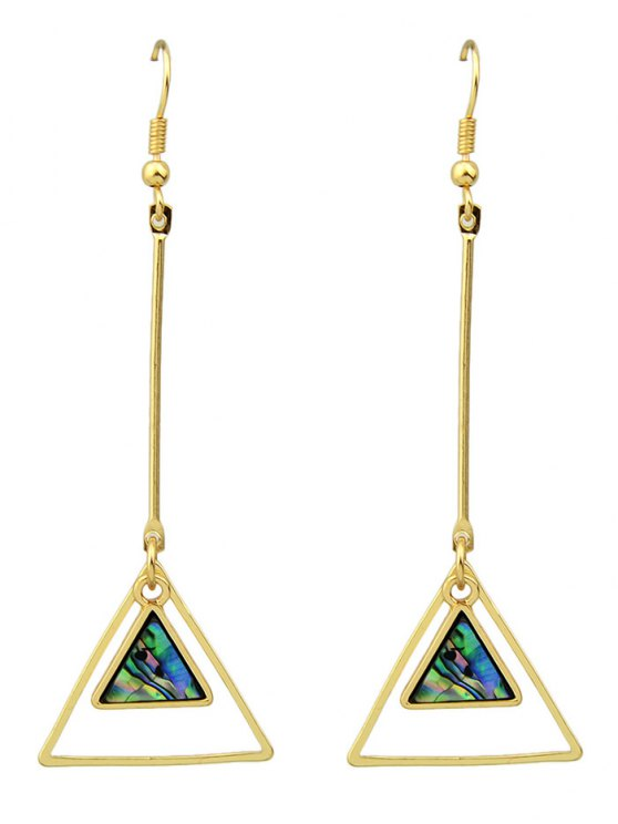 Faux Gem Triangle Boucles d'oreilles Vintage - Or