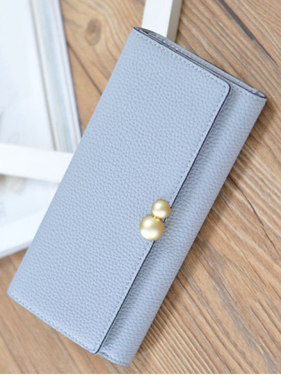 Textured Tri Fold Clutch Wallet -   Mobile