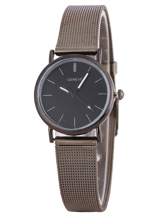 Metal Mesh Band Analog Wrist Watch - SILVER  Mobile