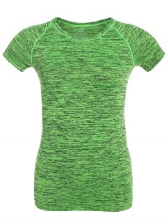 Space Dye Short Sleeve Sports T-Shirt - Neon Green M