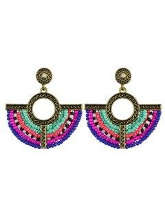 Beads Geometric Vintage Drop Earrings