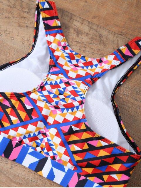 unique Geometric Ethnic Style Bikini Set - COLORMIX XL Mobile