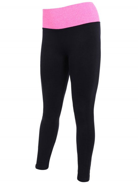 buy Tight Fit Active Leggings - BLACK AND ROSE RED L Mobile