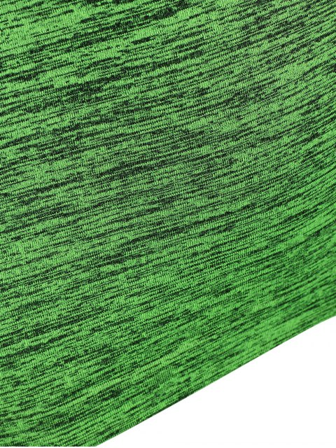 online Space Dye Short Sleeve Sports T-Shirt - NEON GREEN M Mobile