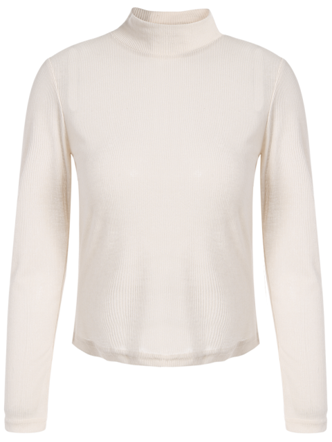 outfits See-Through Cropped T-Shirt - APRICOT M Mobile