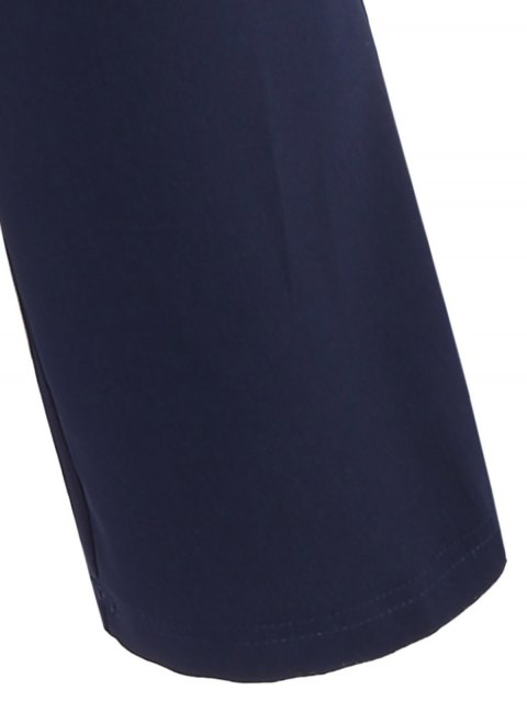 ladies Cami Cut Out Cropped Jumpsuit - CADETBLUE XL Mobile