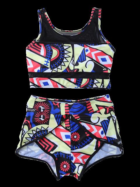 ladies Printed Boyshort Bikini - MULTICOLOR S Mobile