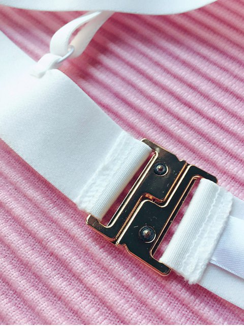 trendy Lace Mesh Wireless Bra - WHITE L Mobile