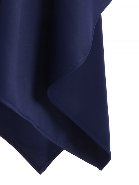 outfit Hanky Hem Maxi Skirt - DEEP BLUE S Mobile