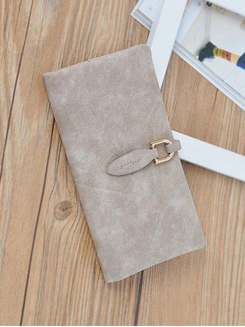 outfits Metal Embellished Bi Fold Clutch Wallet - LIGHT KHAKI  Mobile