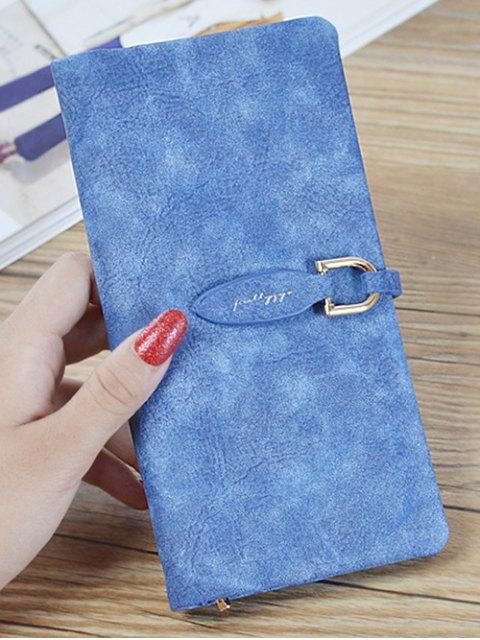 shops Metal Embellished Bi Fold Clutch Wallet - SAPPHIRE BLUE  Mobile