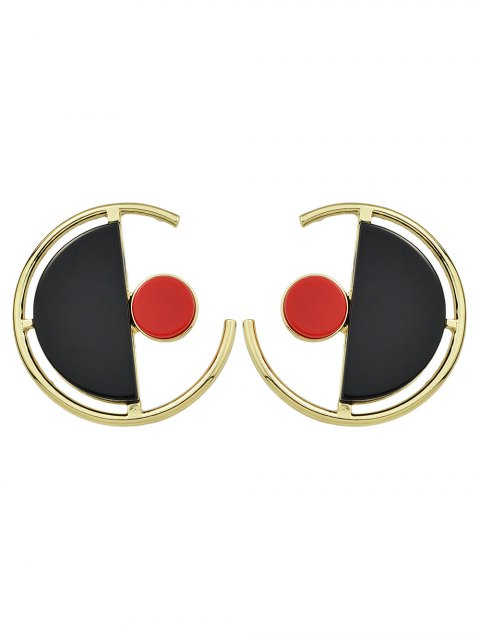 chic Geometric Vintage Round Earrings -   Mobile