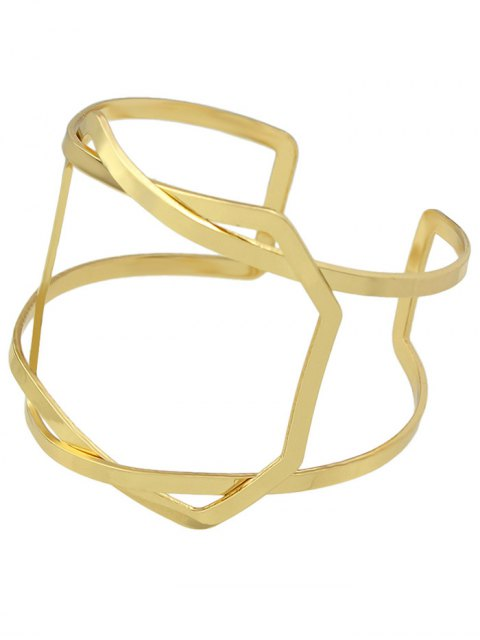 women Geometric Vintage Cuff Bracelet - GOLDEN  Mobile
