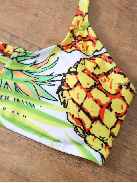 outfits Pineapple Pattern Halter Padded Bikini - COLORMIX M Mobile