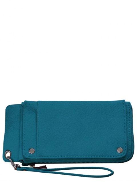 sale Faux Leather Wristlet Wallet - GREEN  Mobile