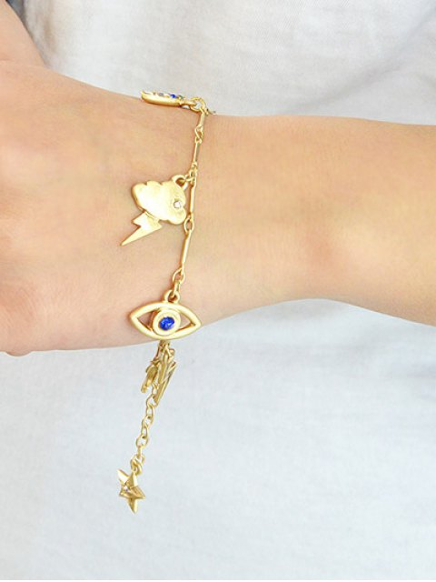 best Rhinestone Star Moon Lightning Eye Bracelet -   Mobile