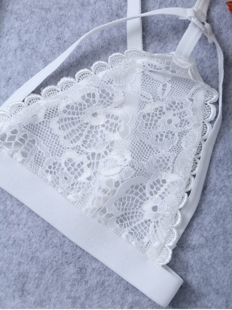 unique Strappy Wireless Bra - WHITE L Mobile