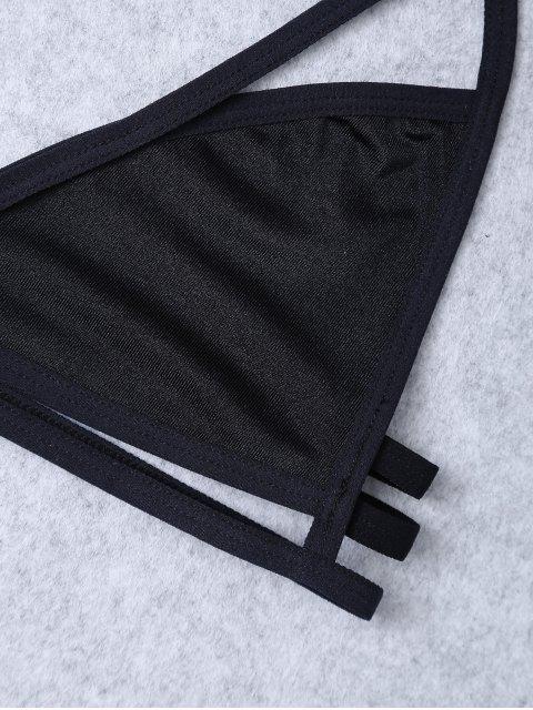 best Unlined Cut Out Bra - BLACK L Mobile
