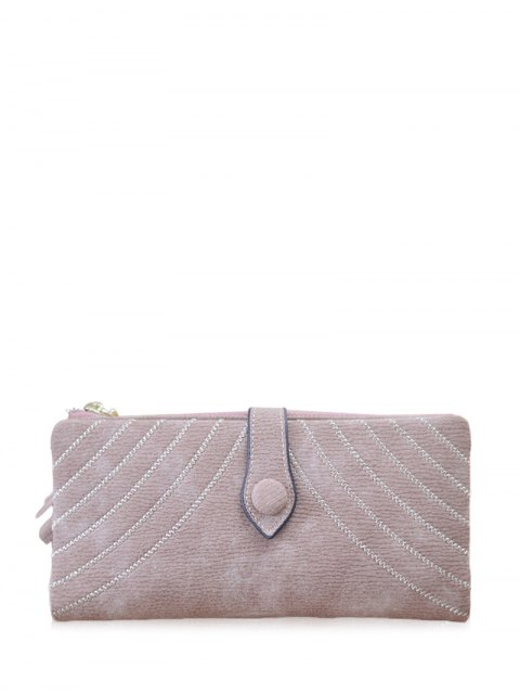 ladies Stitching Tassel Clutch Wallet - PINK  Mobile