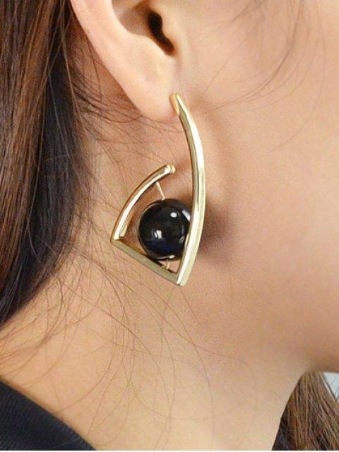unique Geometric Ball Vintage Earrings - GOLDEN  Mobile