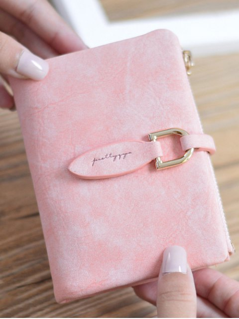 hot PU Leather Bi Fold Small Wallet -   Mobile
