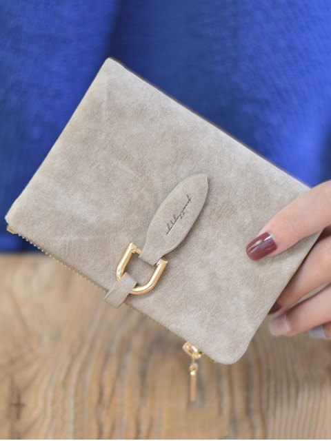 outfits PU Leather Bi Fold Small Wallet -   Mobile