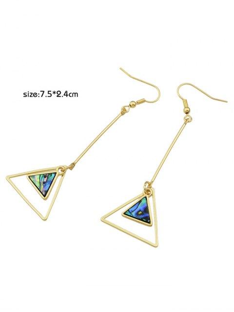 affordable Faux Gem Triangle Vintage Drop Earrings - GOLDEN  Mobile