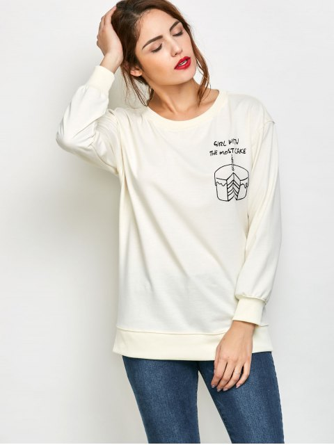 outfit Graphic Skew Neck Oversized Sweatshirt - OFF-WHITE S Mobile