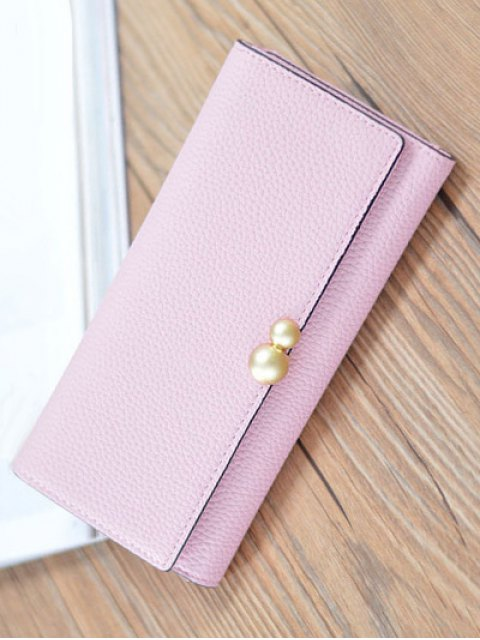 latest Textured Tri Fold Clutch Wallet - PINK  Mobile