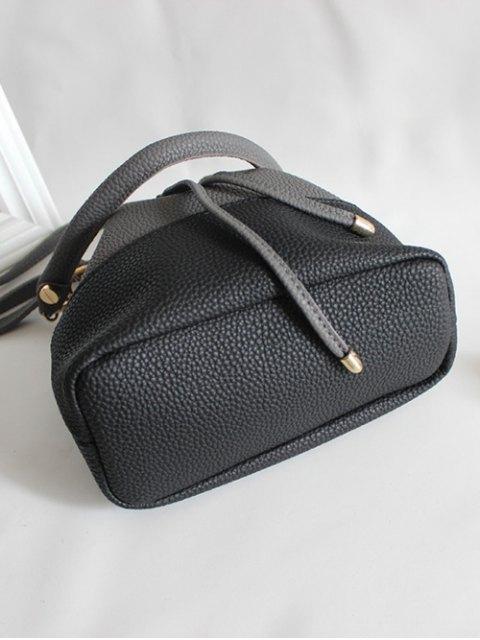 women Faux Leather Color Block Bucket Bag - BROWN  Mobile