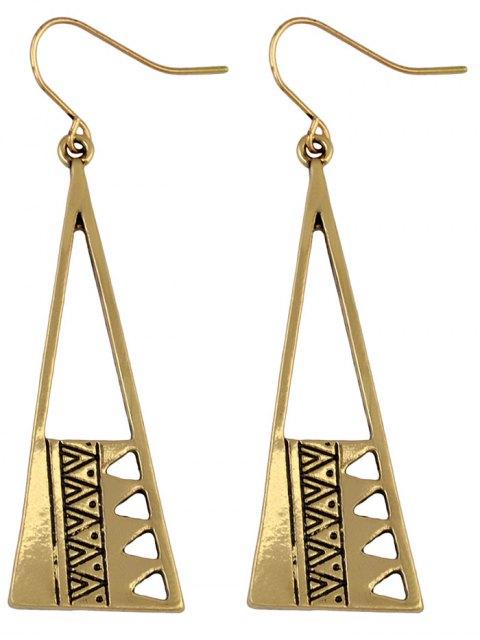 lady Vintage Triangle Drop Earrings - GOLDEN  Mobile